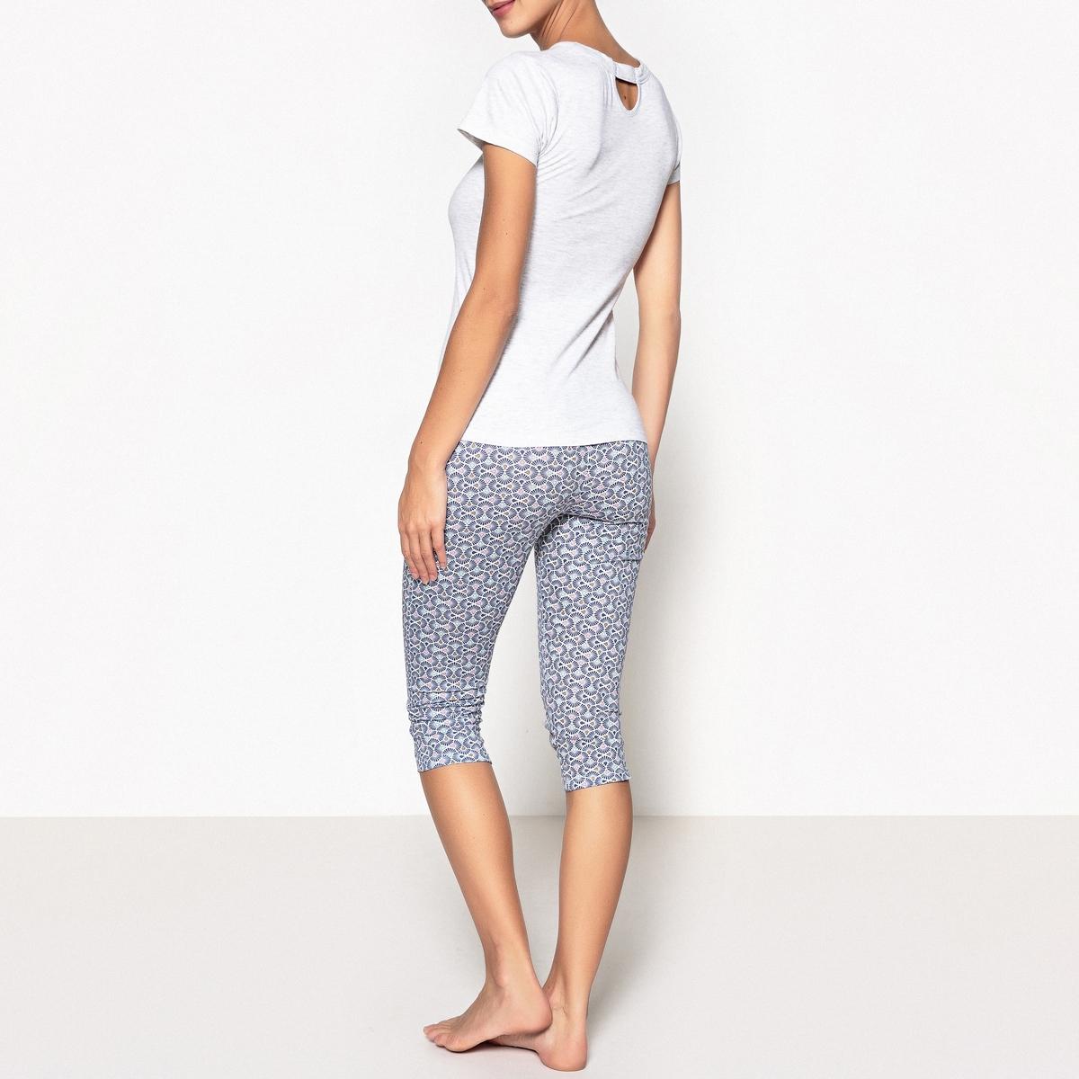 Пижама с укороченными брюками с рисунком Hechter studio