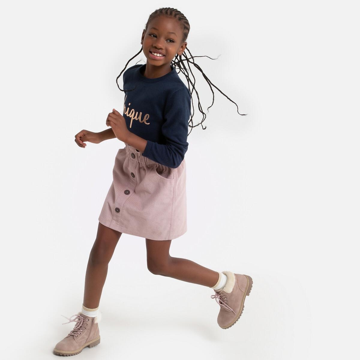 Фото - Юбка LaRedoute Прямая из велюра 3-12 лет 10 лет - 138 см розовый юбка laredoute прямая из легкого денима 3 12 лет 3 года 94 см синий
