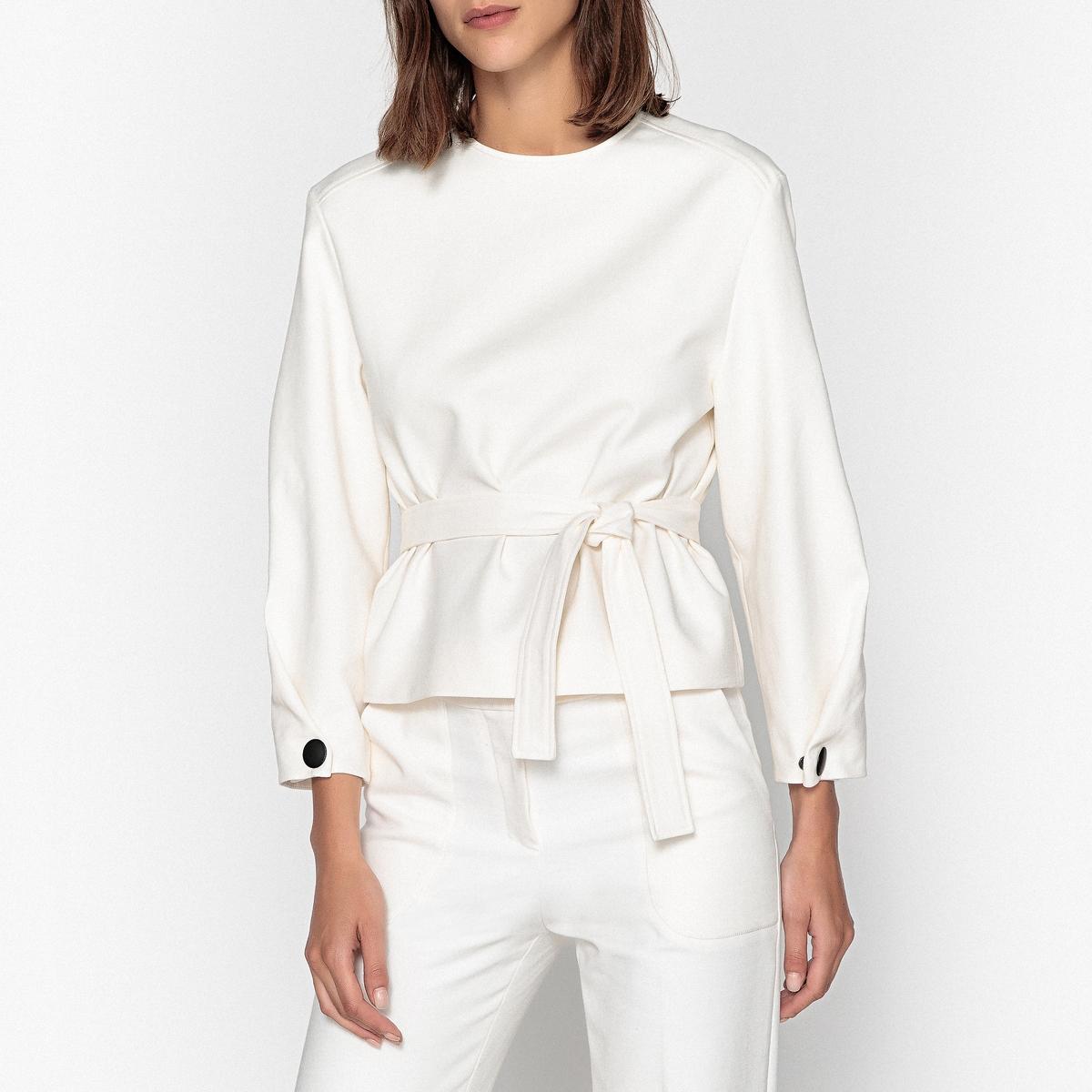 Блузка с круглым вырезом и длинными рукавами WELCOME