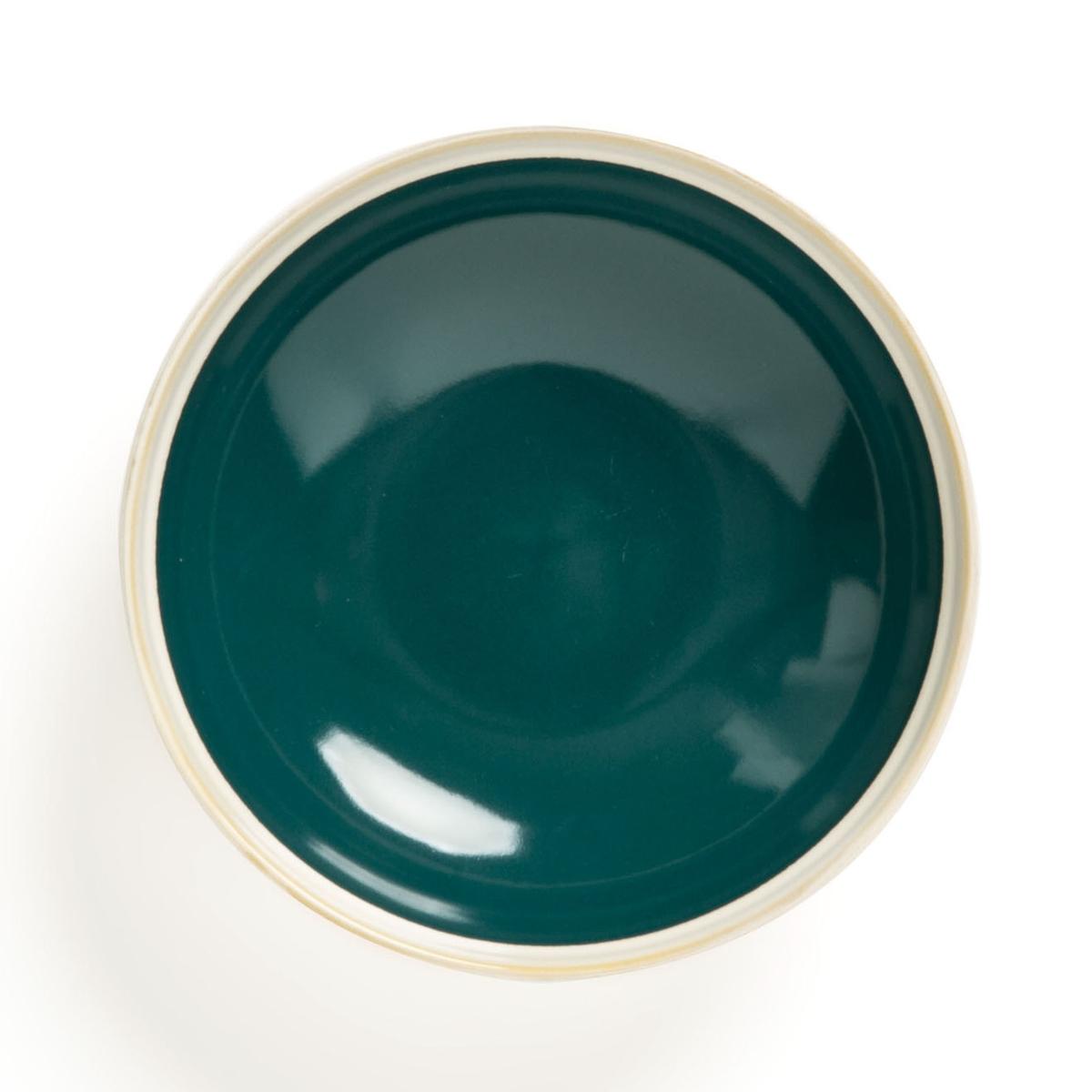 Комплект из глубоких тарелок La Redoute Из керамики DEONIE единый размер зеленый чашки la redoute из керамики shima единый размер зеленый