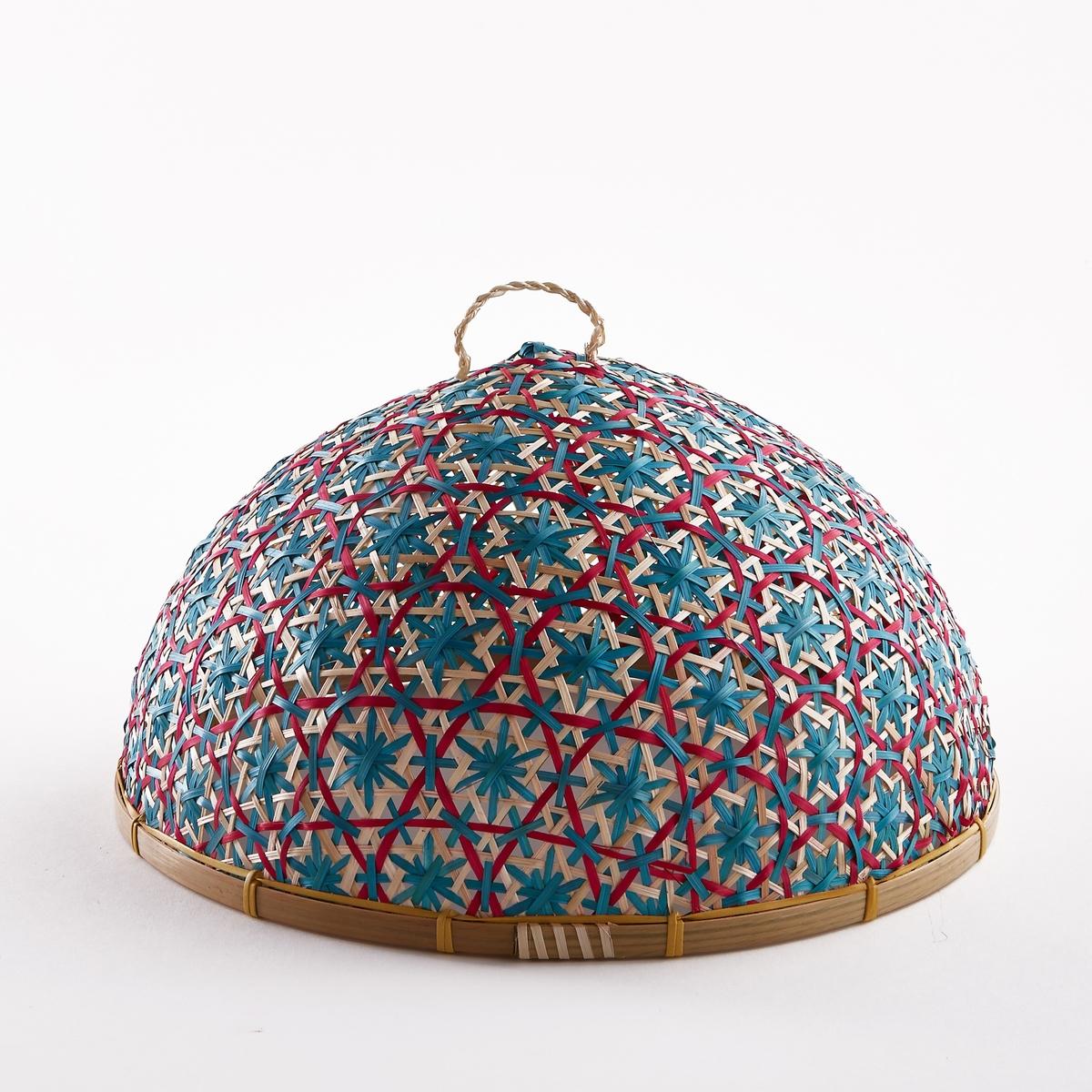 Колпак сырный IacoboСырный колпак Iacobo. Практичный и красивый как снаружи, так и внутри сырный колпак защитит Ваш сыр и другие продукты от насекомых. Красивое плетение ручной работы из натурального бамбука. Размеры  : ?31 x В19 см.<br><br>Цвет: бежевый/разноцветный
