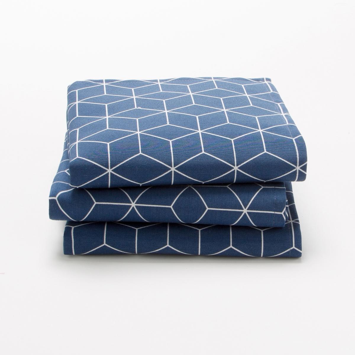 Комплект из 3 салфеток DIAMOND La Redoute La Redoute 45 x 45 см синий комплект из салфеток из la redoute льна и хлопка border 45 x 45 см бежевый