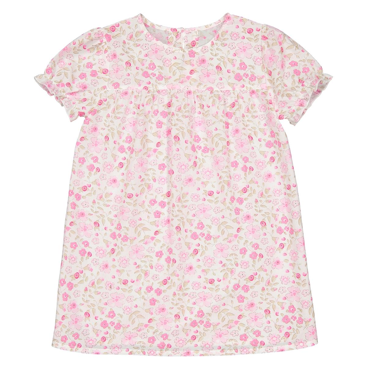 Рубашка ночная с короткими рукавами с принтом 3-12 лет La Redoute Collections