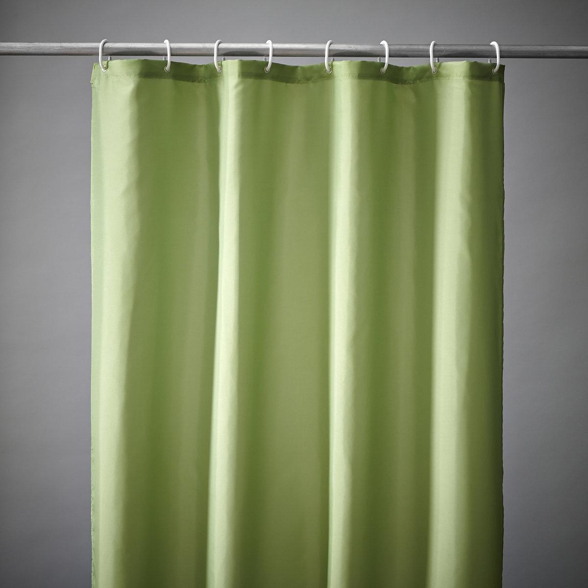 Штора для душа Sc?narioШтора для душа в 8 великолепных цветах для создания атмосферы гармонии в ванной комнате! Штора для душа из эластичного и непромокаемого текстиля, 100% полиэстера.Крепление с помощью пластиковых прозрачных крючков, идут в комплекте.Низ с грузиками для идеального натяжения.Размер шторы для душа: высота 200 см, два варианта ширины: 120 см или 180 см.<br><br>Цвет: зеленый анис<br>Размер: 200 x 180 см