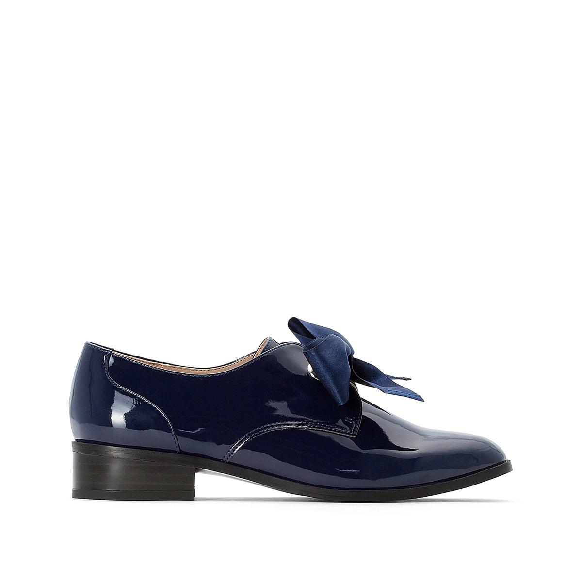 Ботинки-дерби La Redoute На шнуровке из лент 38 синий