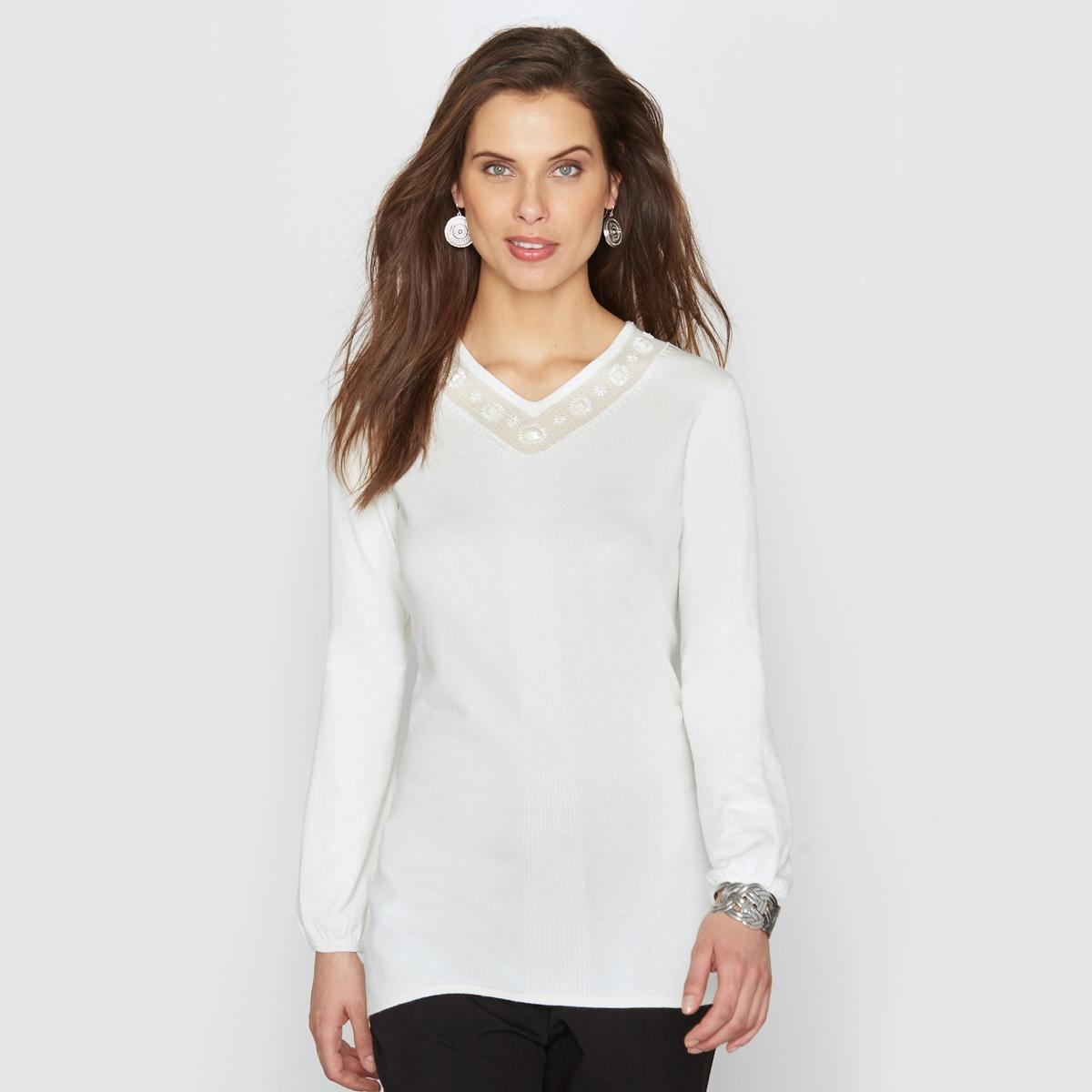 Пуловер с украшением от ANNE WEYBURN