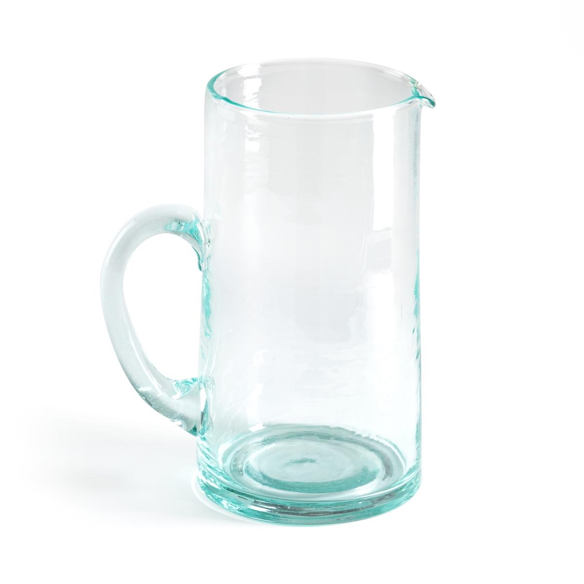 Графин ручного производства из стекла, изготовленный с помощью техники выдувания. GimaniГрафин Gimani. Изготовлена с помощью техники выдувания, из переработанного стекла. Благодаря технике стеклодувов каждое изделие уникально. Размеры: ? верха 9, ? низа 10 x В19 см. Емкость 1000 мл. Подходит для мытья в посудомоечной машине и использования в микроволновой печи. Стаканы того же комплекта представлены на нашем сайте.<br><br>Цвет: прозрачный