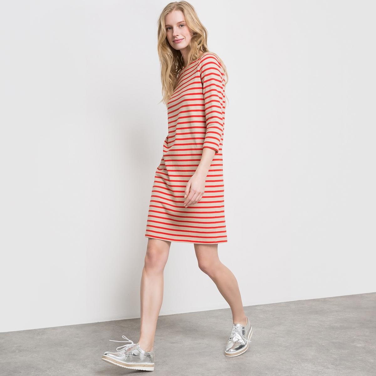 Платье в полоску, 100% хлопка