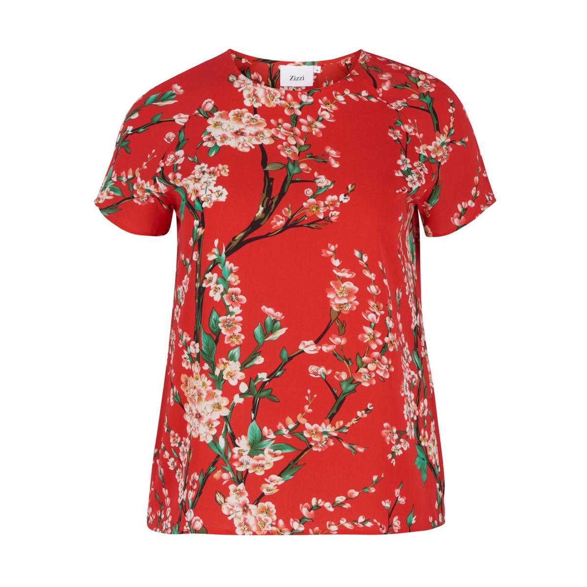 Блузка однотонная с круглым вырезом, с короткими рукавами от La Redoute