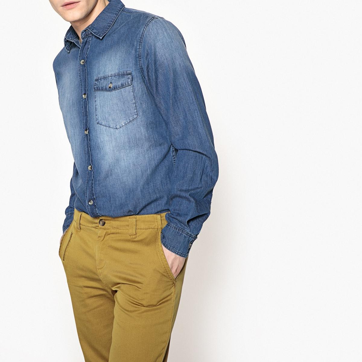 Рубашка узкого покроя из джинсовой ткани рубашки mavango рубашка