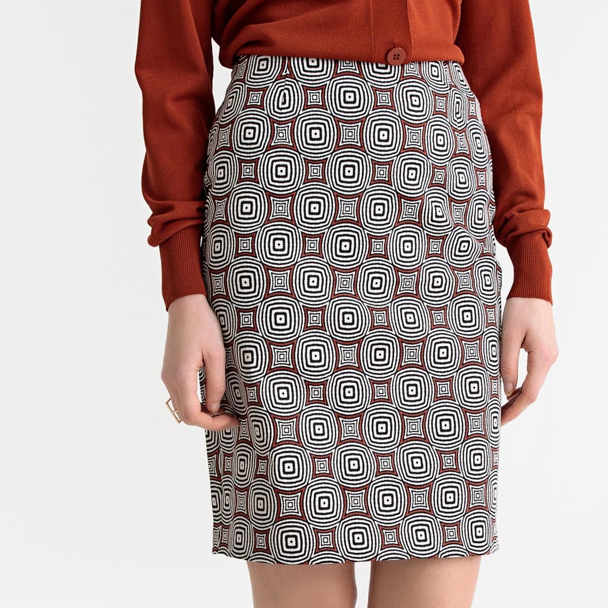 Falda tubo elástica, semilarga