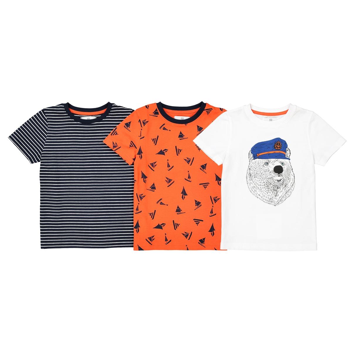 Комплект из 3 футболок с рисунком, 3-12 лет