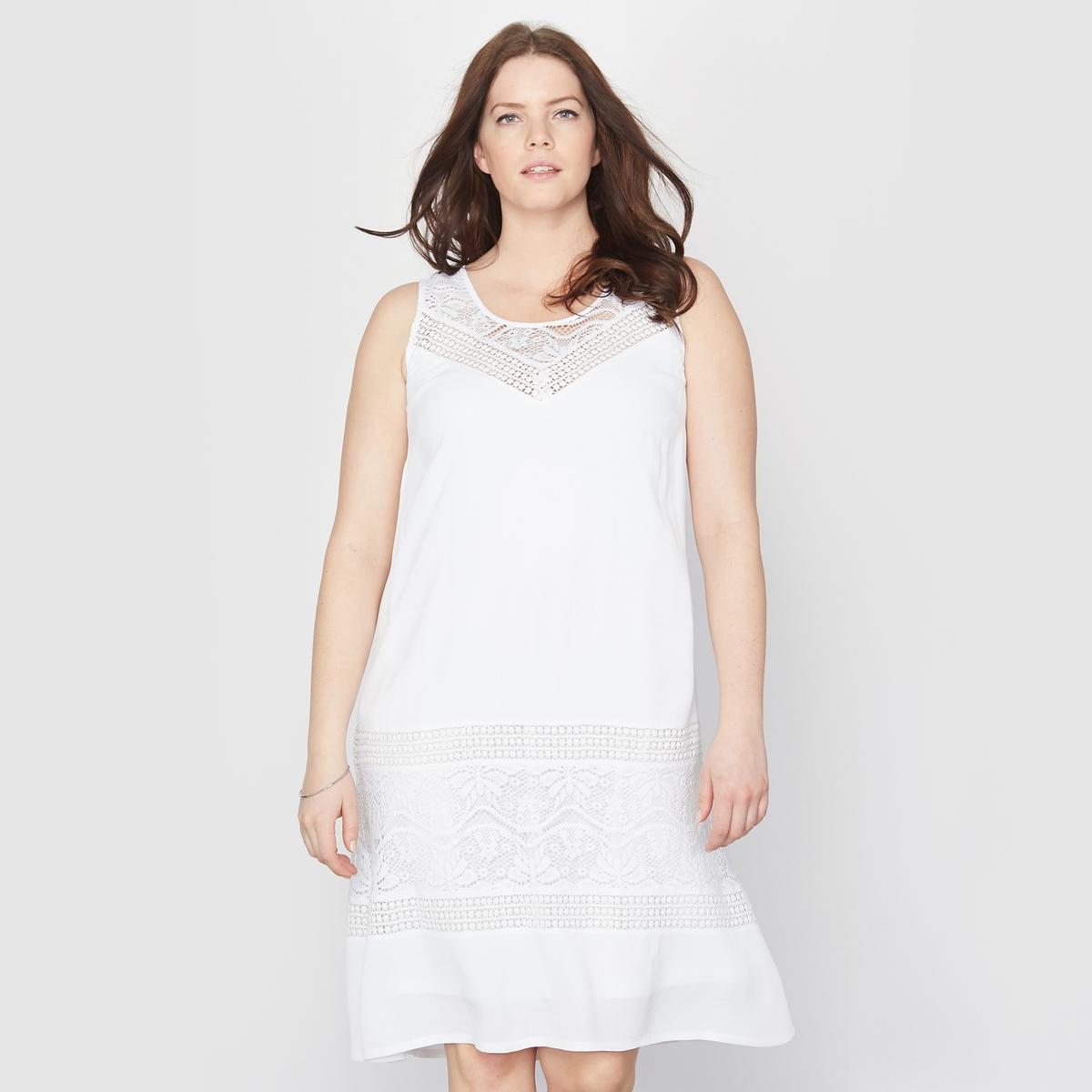 Кружевное платье А-образного покроя