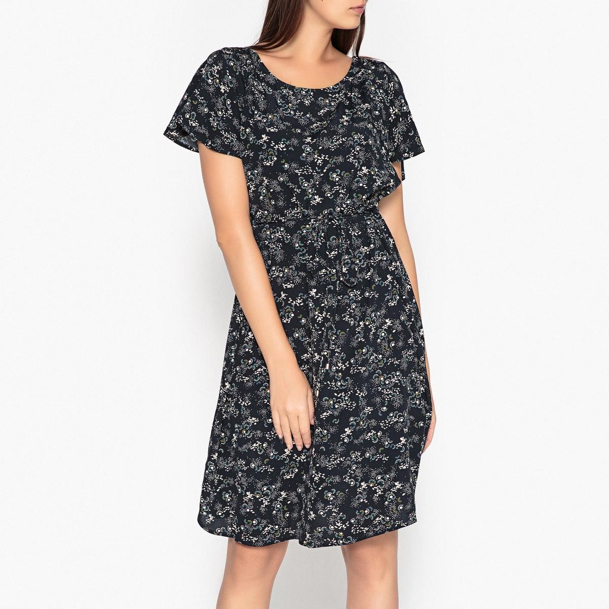 Платье укороченное с короткими рукавами HAMANA