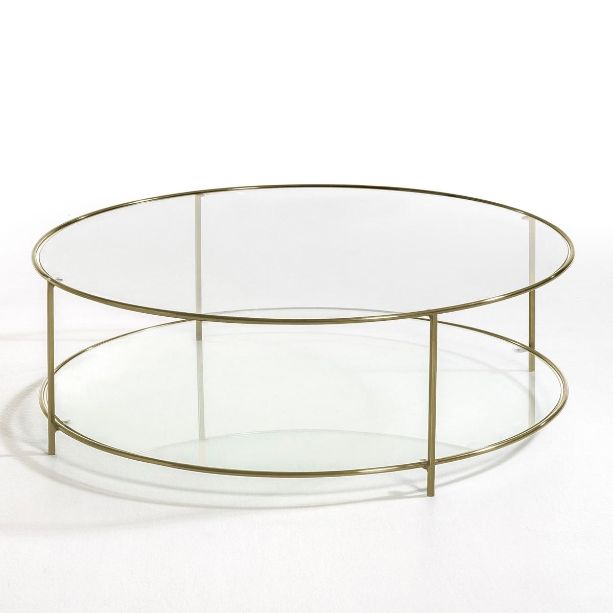 Столик La Redoute Журнальный круглый из закаленного стекла Sybil единый размер другие стол la redoute журнальный из агата и металла anaximne единый размер синий