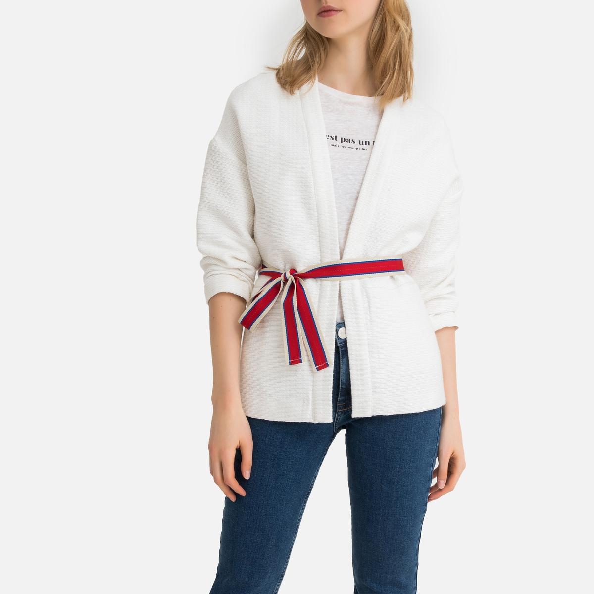 Жакет-кимоно La Redoute Длинный свободного покроя 34 (FR) - 40 (RUS) бежевый цена 2017