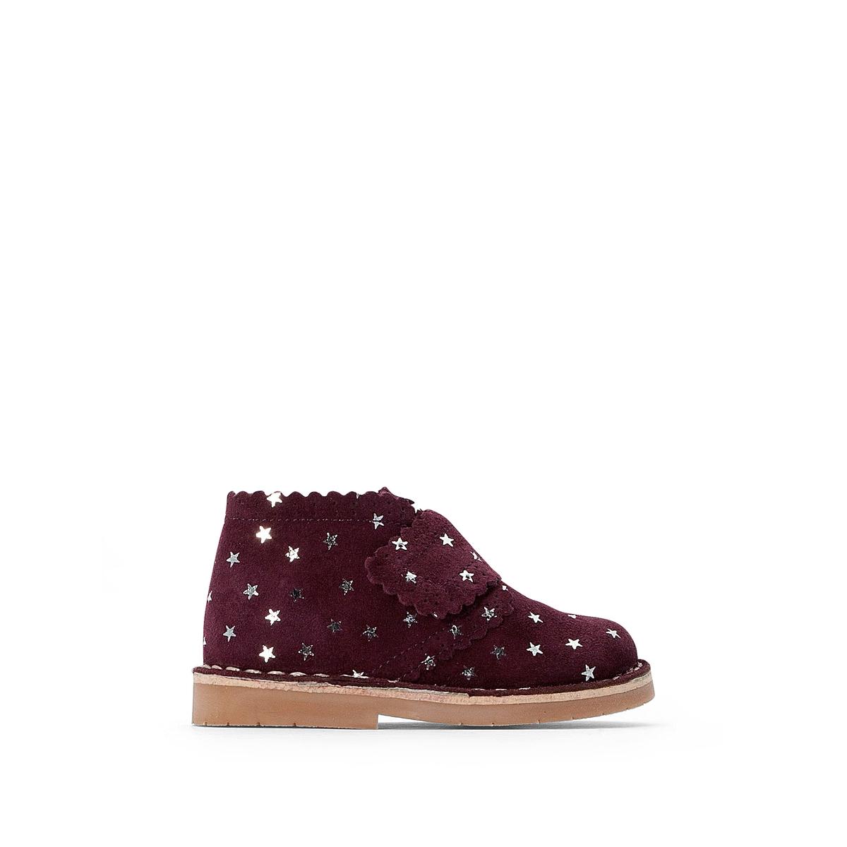 цена Ботинки La Redoute Кожаные на липучках - 22 красный