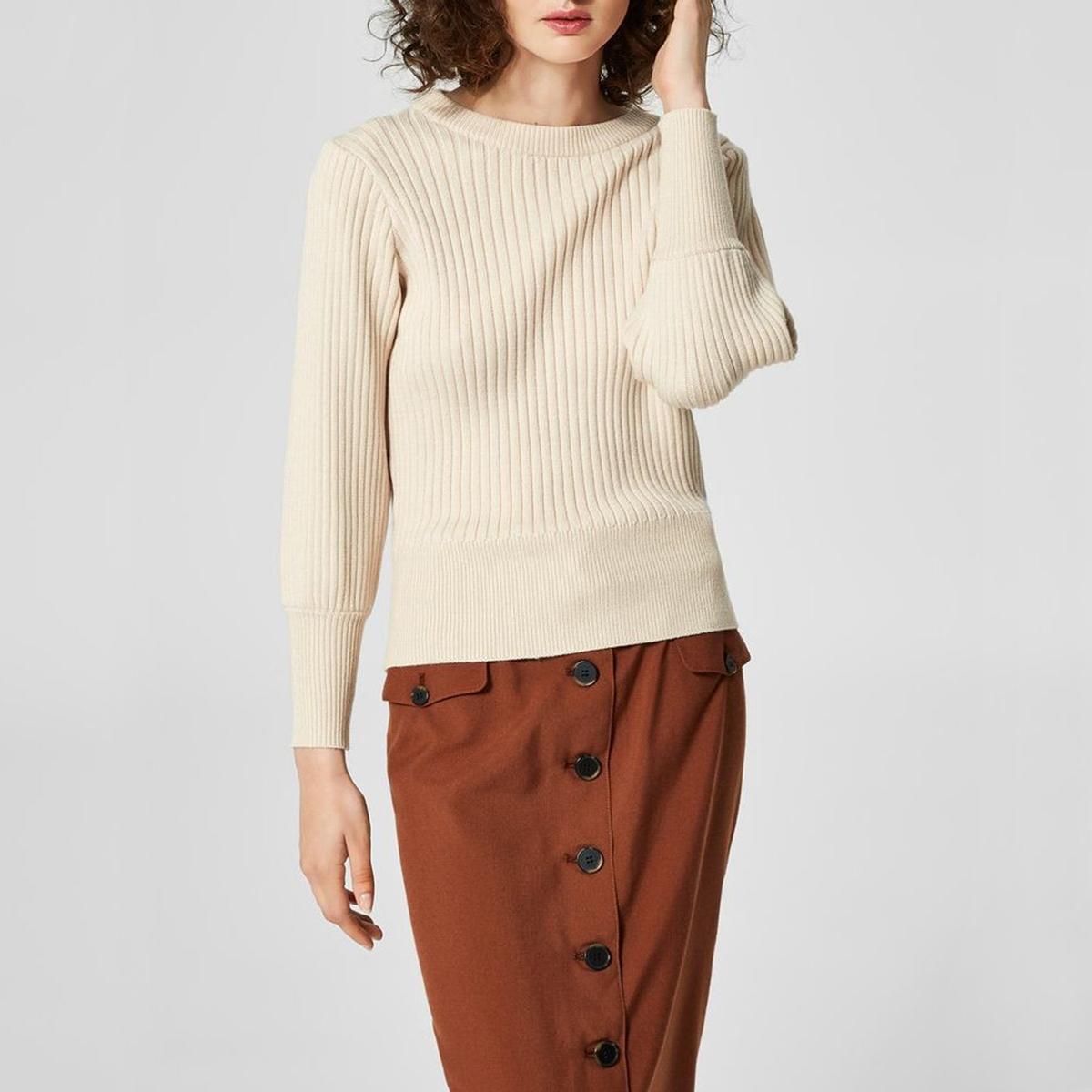 Пуловер с круглым вырезом из тонкого трикотажа ботинки tapiboo tapiboo ta036abwxb45