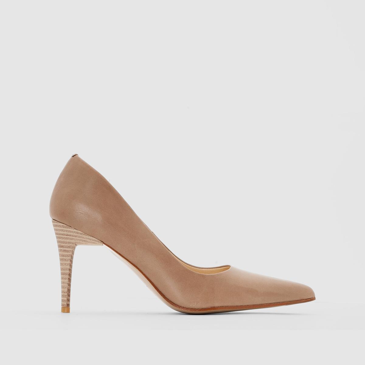 Туфли кожаные на высоком каблуке, ELIZABETH STUART, LestonПреимущества: сдержанность и качество характеризуют эти туфли от ELIZABETH STUART, которые предлагают модный в этом сезоне дизайн.<br><br>Цвет: бежевый<br>Размер: 41.38