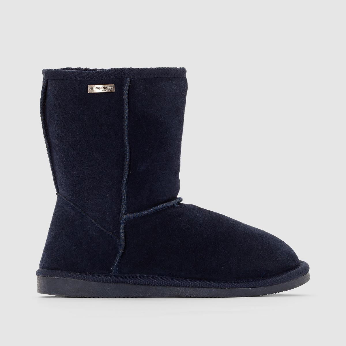 Ботильоны на меху SnowДетали   •  Высота каблука : 2,5 см •  Застежка : без застежки •  Круглый мысок •  Велюровая отделка, нубукСостав и уход   •  Верх 100% спилок •  Подкладка 100% текстиль •  Стелька 100% текстиль •  Подошва 100% синтетический материал<br><br>Цвет: серый,темно-бежевый,темно-синий,черный<br>Размер: 41