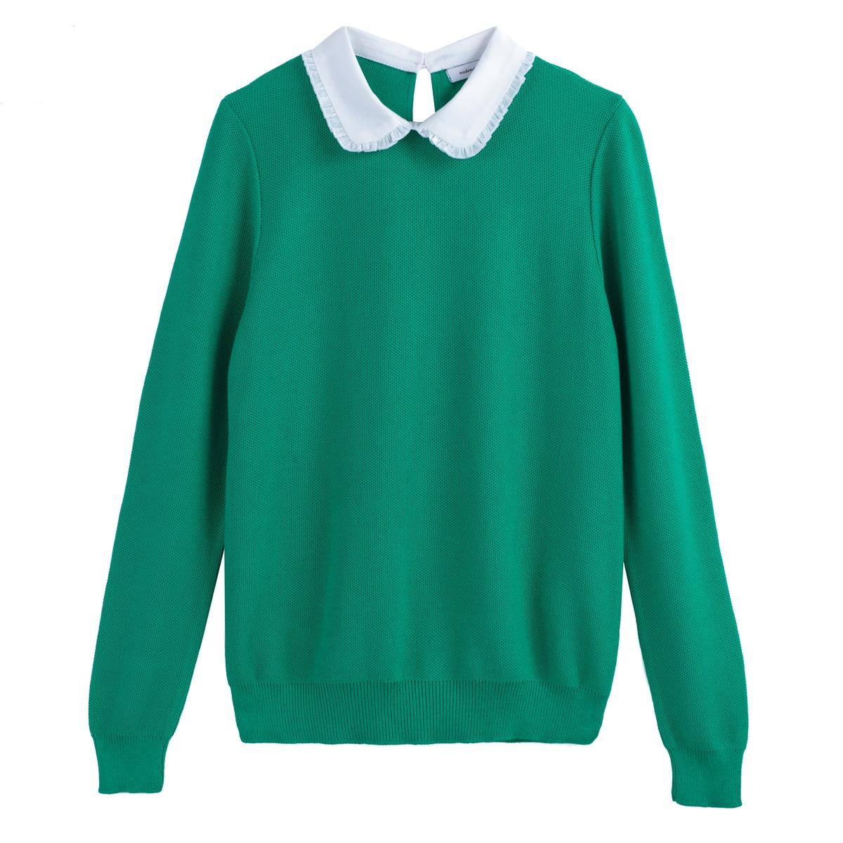 Пуловер из тонкого трикотажа с отложным воротником La Redoute Collections
