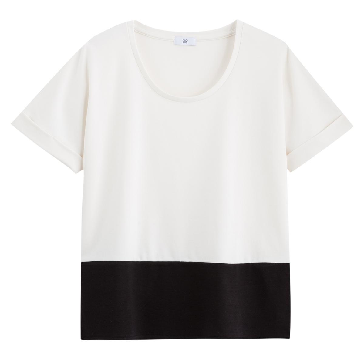T- shirt bicolor, gola redonda