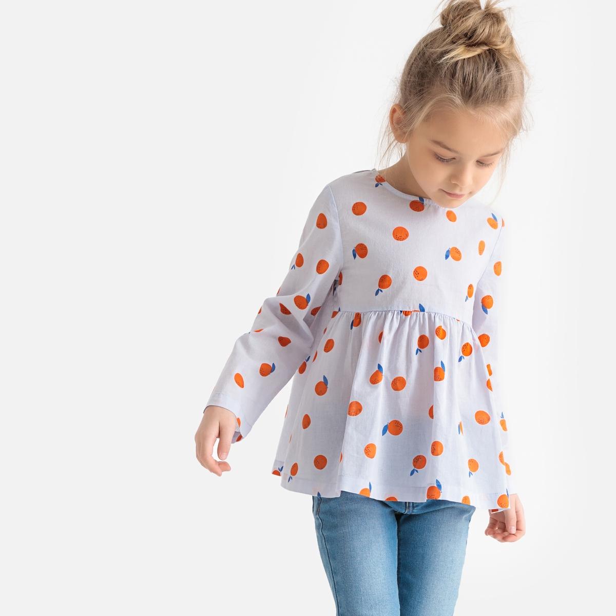Блузка La Redoute С принтом и длинными рукавами 12 лет -150 см другие пижама la redoute с шортами и цветочным принтом 12 лет 150 см другие