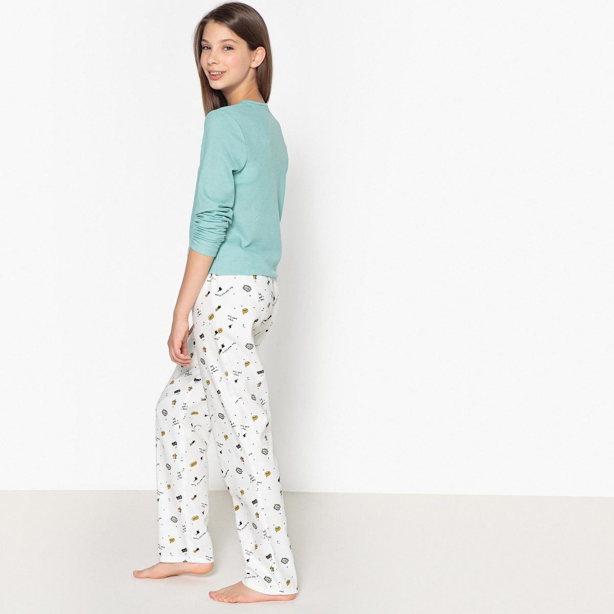 Пижама с принтом-надписью 10 - 16 лет леггинсы спортивные с принтом 10 16 лет