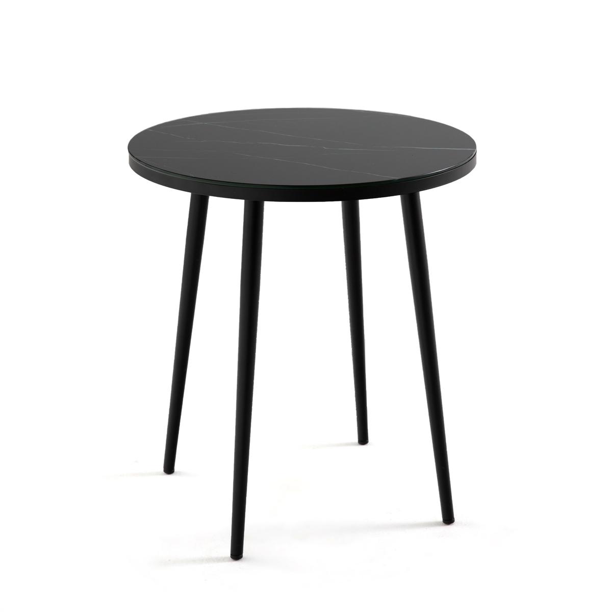 Стол La Redoute Диванный с эффектом мрамора Alma единый размер черный