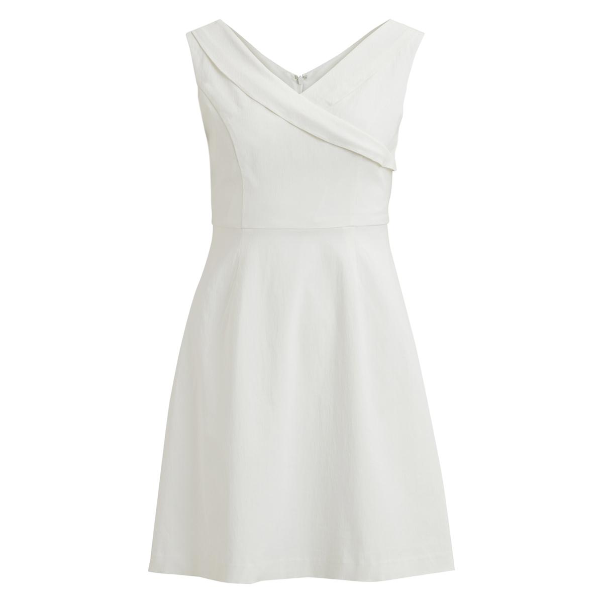 Платье расклешенное средней длины, без рукавов