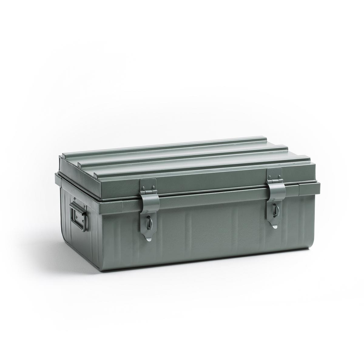 Чемодан MASAОписание:Небольшой чемодан из металла : он всегда актуален и не перестает обновлять свой дизайн с помощью разных деталей . Описание чемодана MASA :Чемодан из металла с эпоксидным покрытием эмалью  .2 ручки по бокам.Застежка спереди, возможность повесить 2 замка (не входят в комплект) .Размеры чемодана MASA :Длина 48,5 см Ширина 29,5 см Высота 19,5 см<br><br>Цвет: хаки,черный