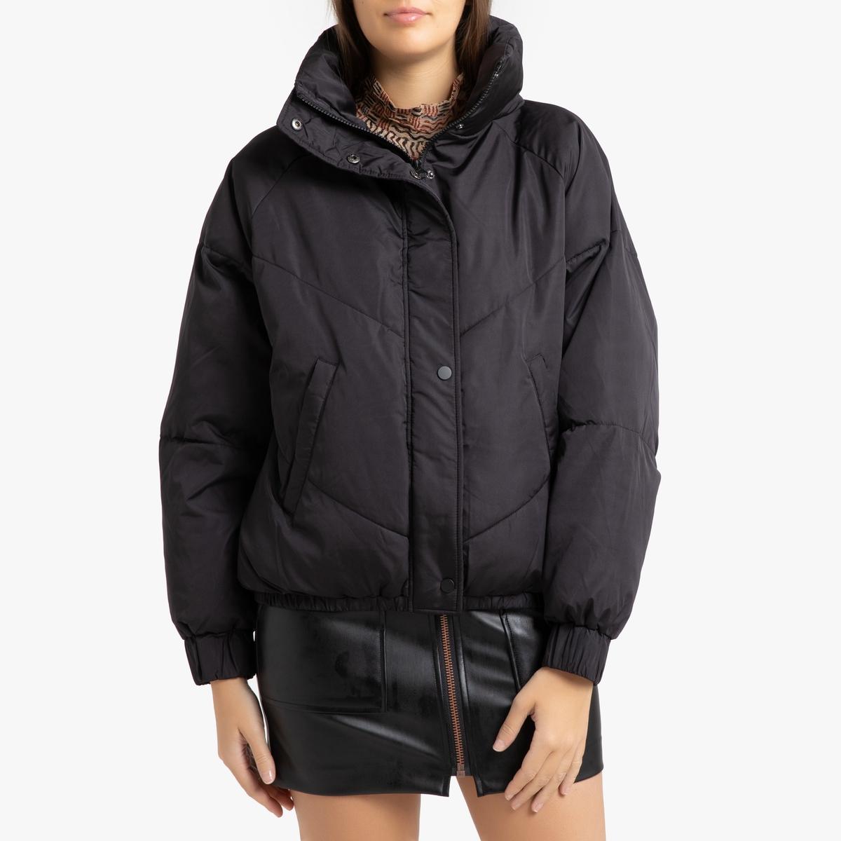 цена Куртка La Redoute Стеганая на молнии DARCY 2(M) черный онлайн в 2017 году