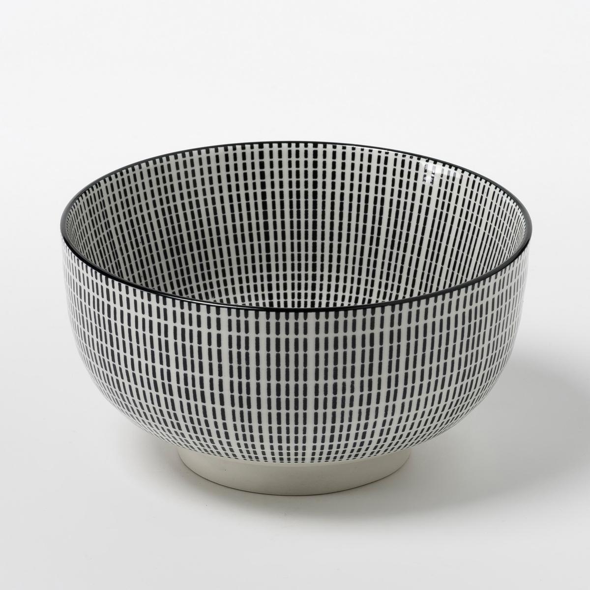 4 чаши фарфоровые Shigoni4 чаши Shigoni. Чаша в азиатском стиле с рифленой поверхностью. Глазурованный фарфор. Размеры: ?12,7. Подходит для посудомоечных машин и микроволновых печей. Выбор мелких и десертных тарелок на сайте.<br><br>Цвет: черный + белый