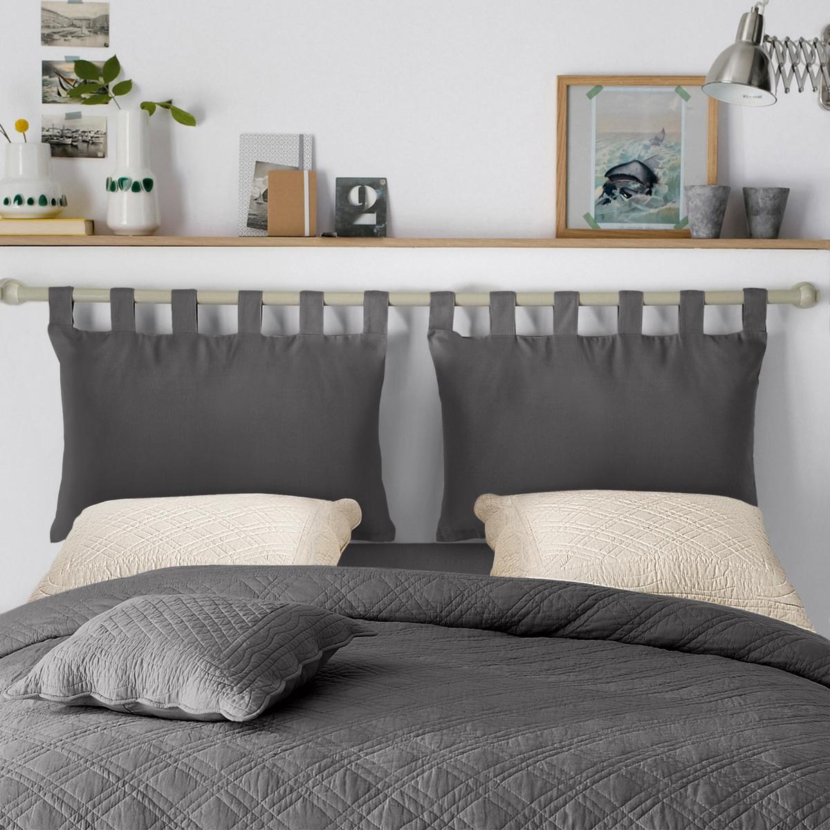 2 чехла La Redoute Для изголовья кровати из хлопка SCENARIO 50 x 70 см серый
