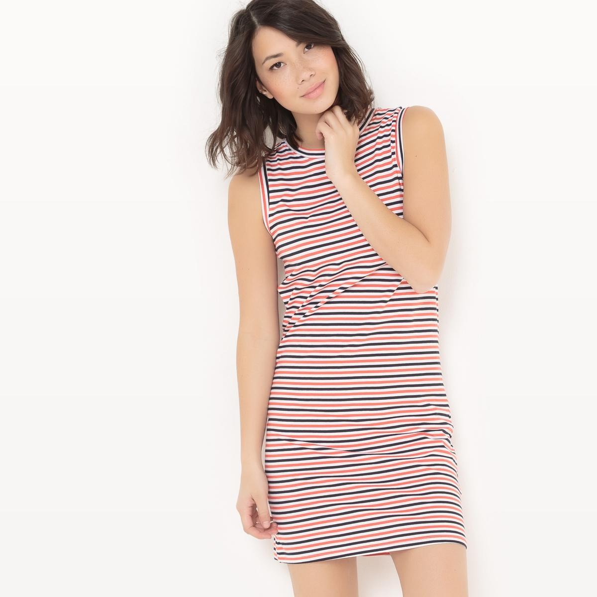 Платье короткое в полоску