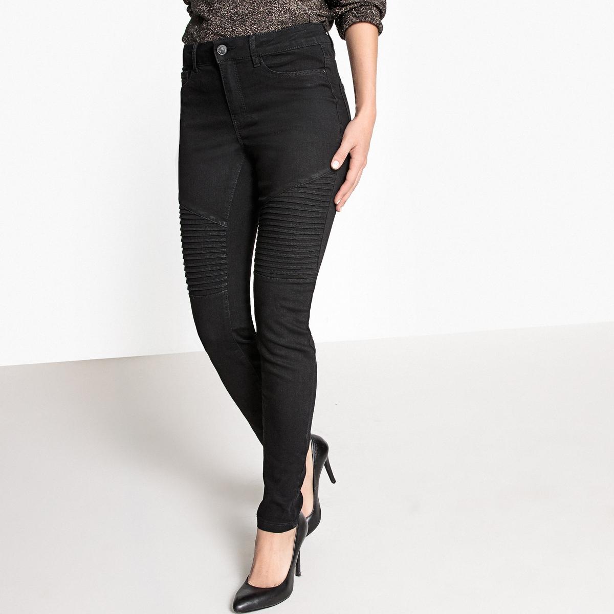 Узкие джинсыОписание •  Узкий покрой •  Стандартная талия Состав и уход •  23% вискозы, 36% хлопка, 3% эластана, 38% полиэстера •  Следуйте рекомендациям по уходу, указанным на этикетке изделия<br><br>Цвет: черный<br>Размер: XS