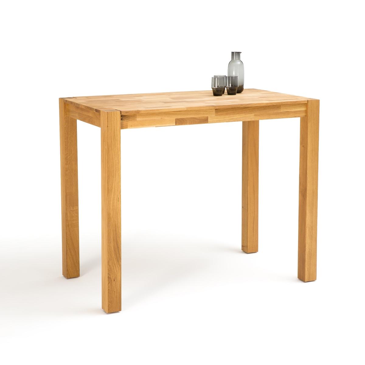 Стол La Redoute На персоны из массива дуба Adelita 4 персоны каштановый стол la redoute барный janik регулируемый по высоте 2 персоны белый