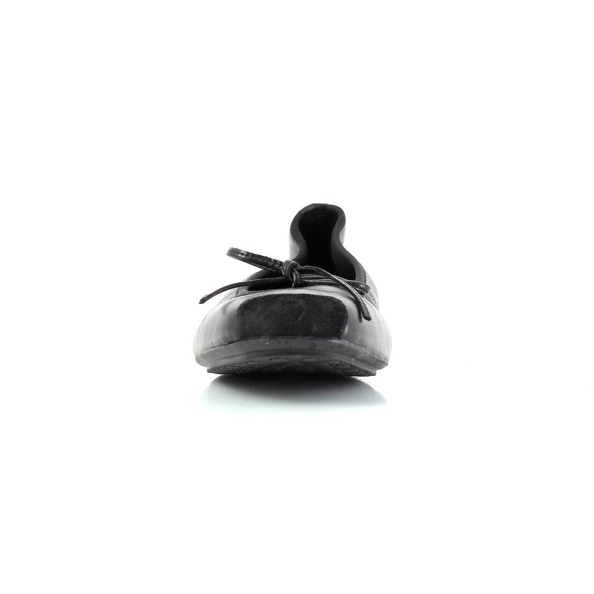 Балетки из кожи YORKПодкладка : текстиль.             Стелька : Кожа    Подошва : синтетический материал.                            Носок : Закругленный.        Застежка : Без застежки<br><br>Цвет: черный<br>Размер: 37