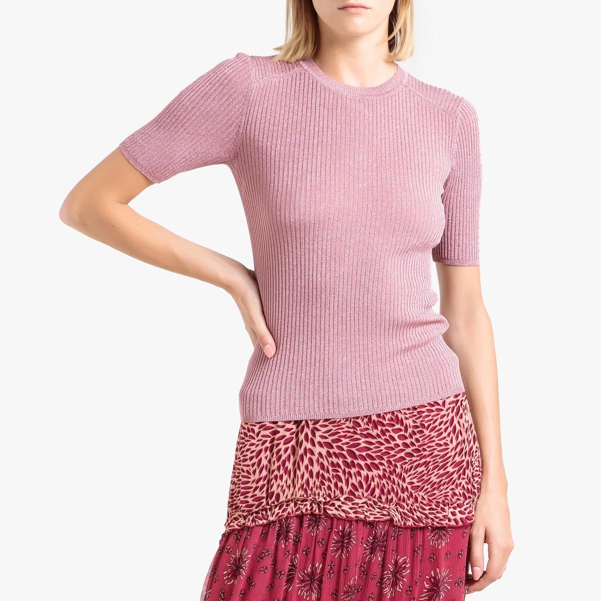 цена Пуловер La Redoute С круглым вырезом из тонкого трикотажа ZOE 0(XS) розовый