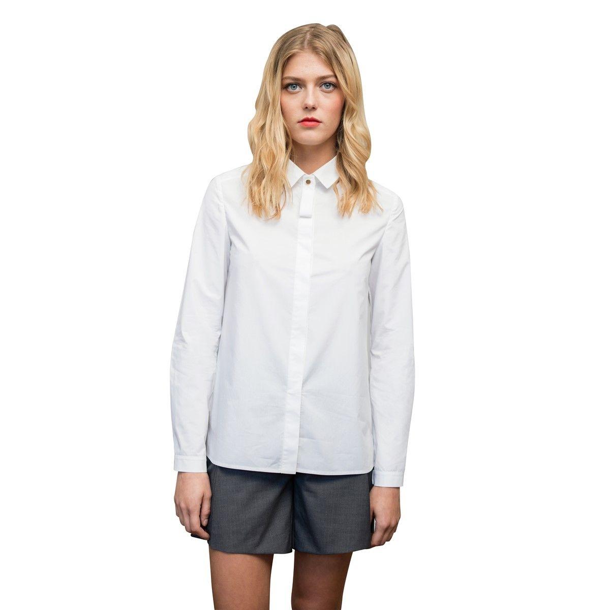 Chemise Femme manches longues en coton style british chic et moderne