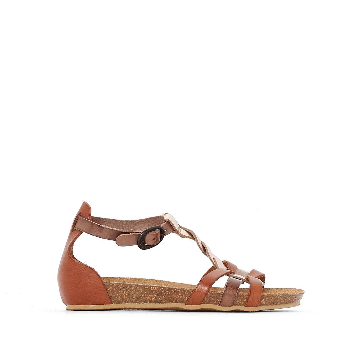 Sandálias em pele Bomtardes