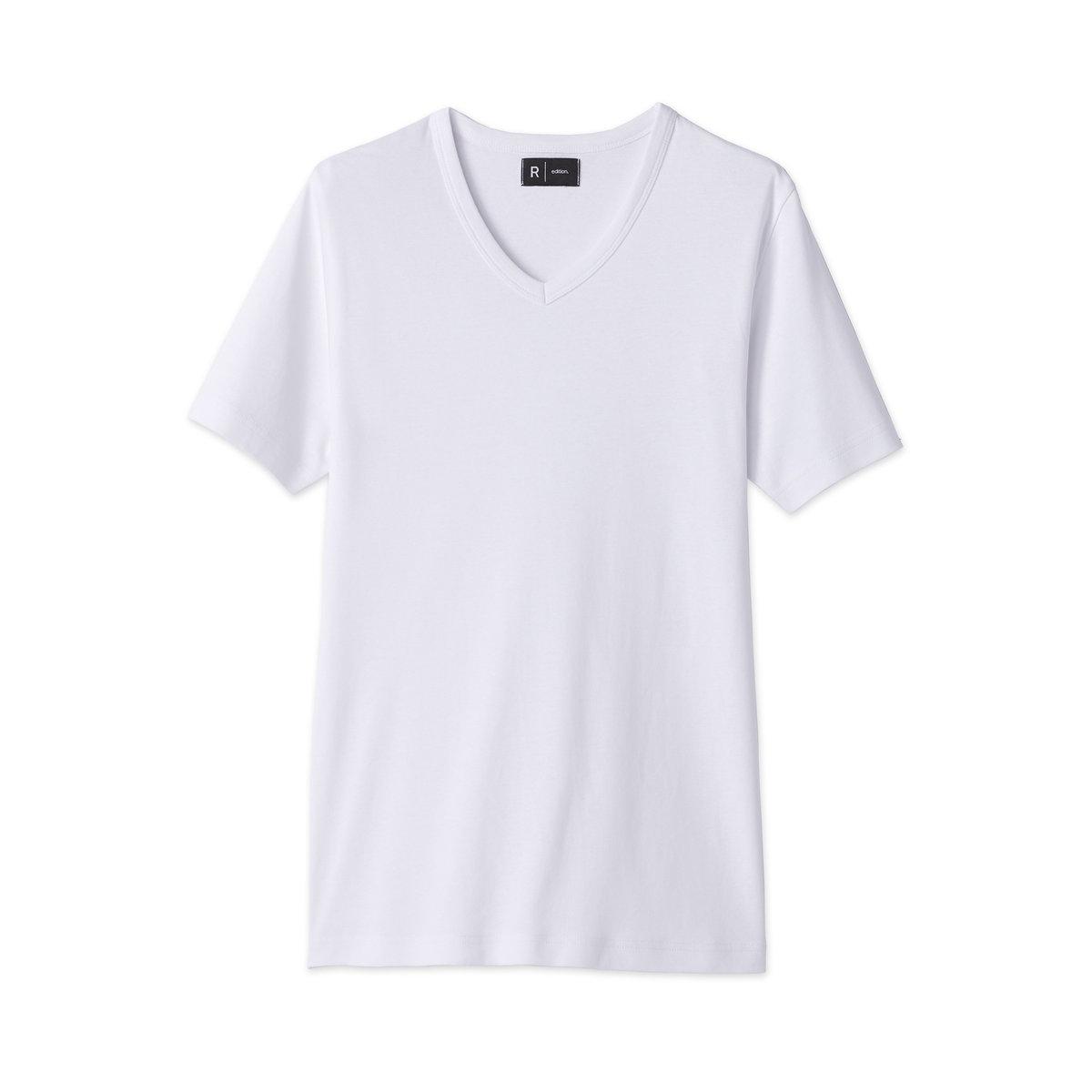 Комплект из 3 футболок с V-образным вырезом*Международный знак Oeko-Tex гарантирует отсутствие вредных и раздражающих кожу веществ.<br><br>Цвет: белый + белый + белый<br>Размер: XXL.XL