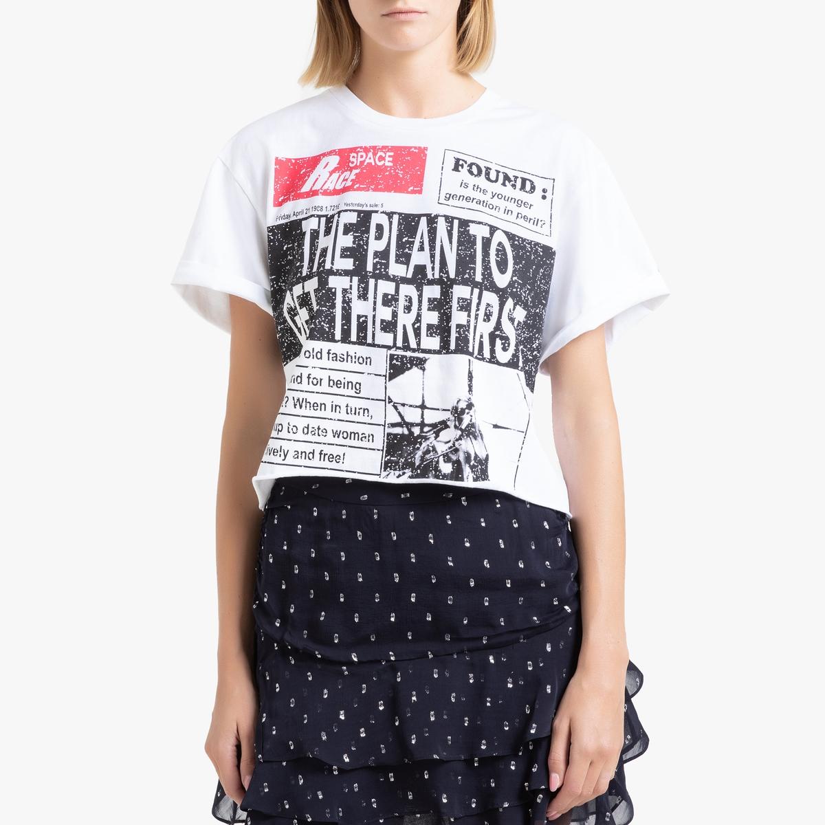 Camiseta corta con cuello redondo y manga corta