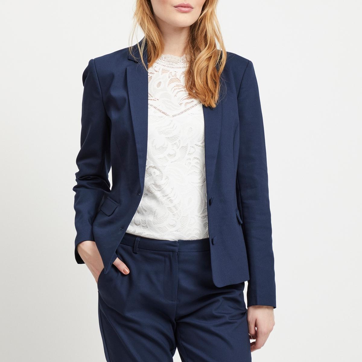 Жакет La Redoute Прямого покроя из джинсовой ткани 34 (FR) - 40 (RUS) синий бермуды la redoute из джинсовой ткани jjirrick jjicon s синий