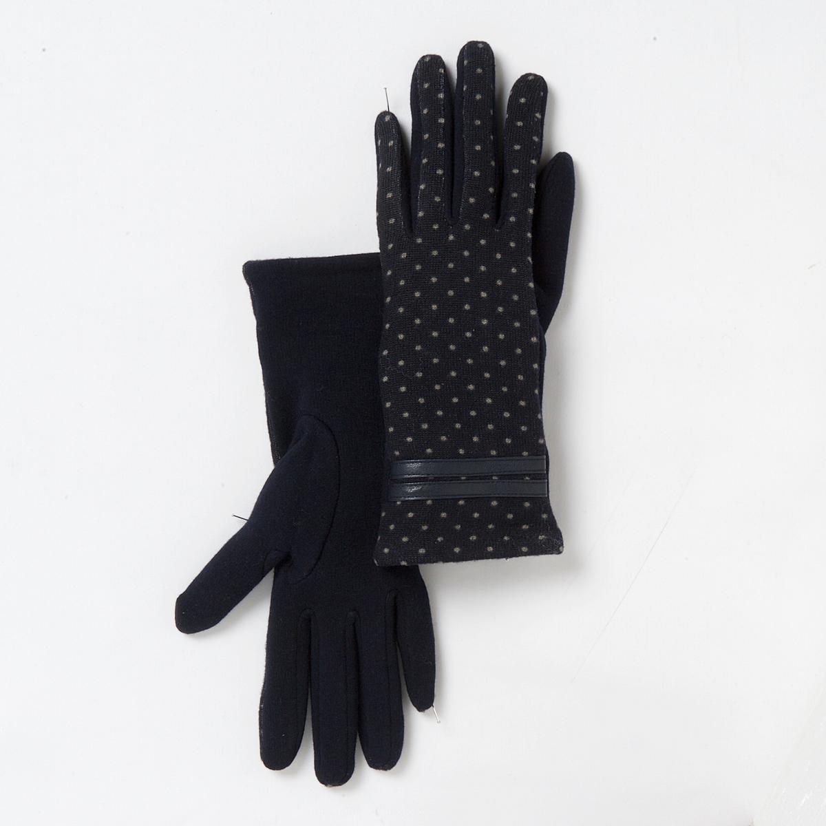 Перчатки - MADEMOISELLE RПерчатки MADEMOISELLE R.Материал: 80% полиэстера, 20% шерсти<br><br>Цвет: темно-синий в горошек<br>Размер: единый размер