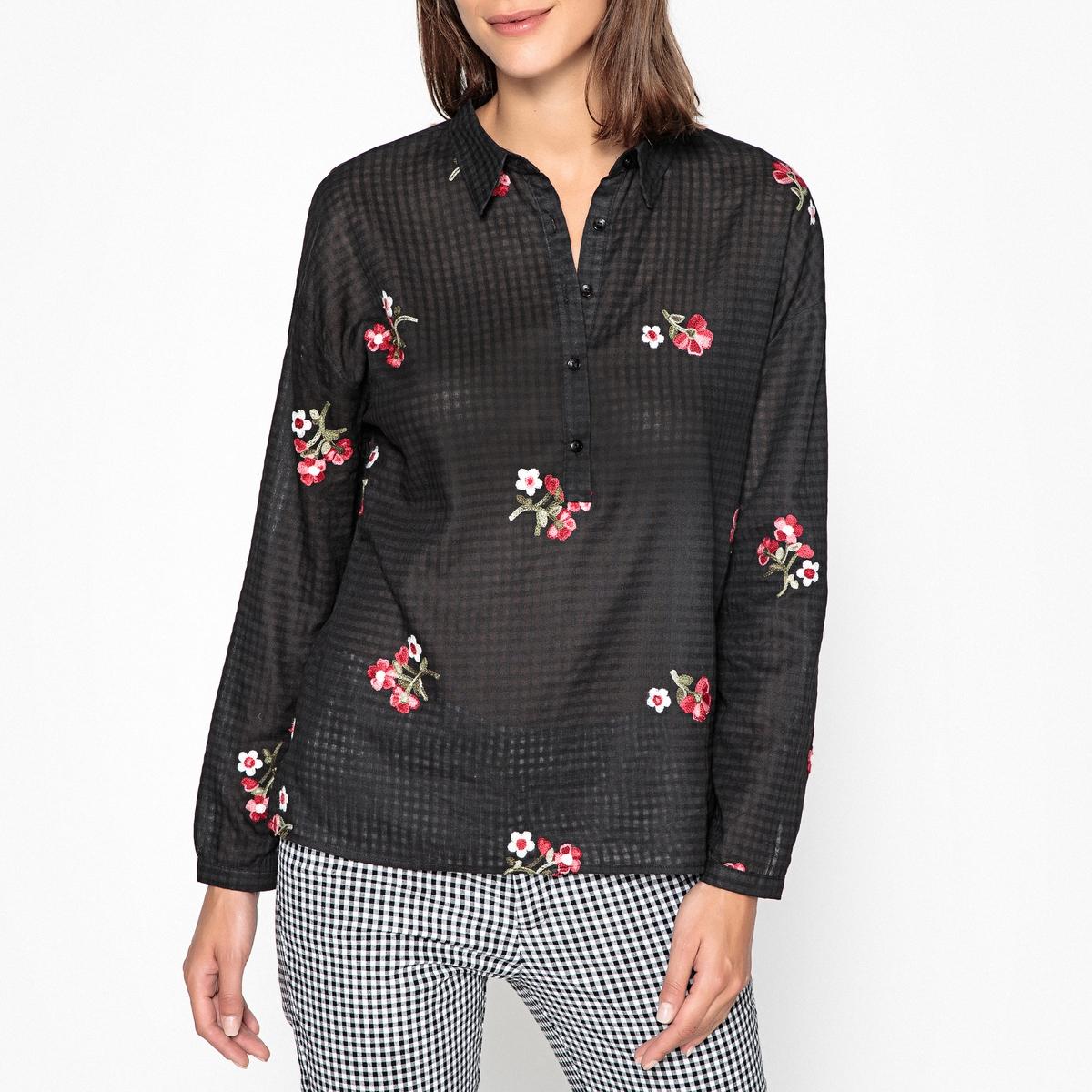 Блузка с цветочным рисунком и длинными рукавами AGATHA цена 2017