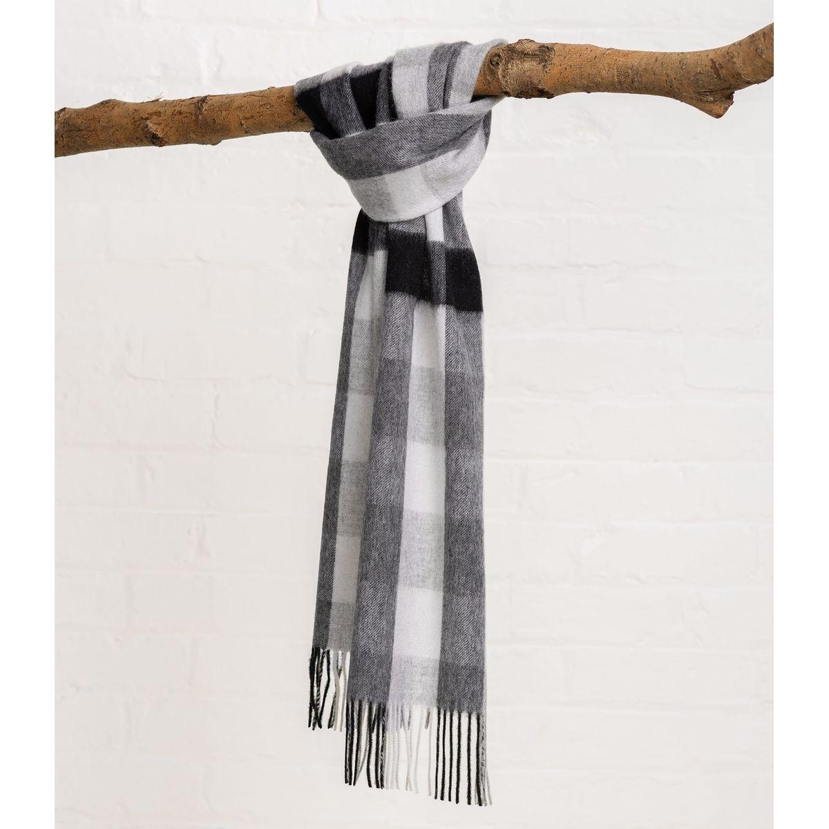 Écharpe écossaise à carreaux pur laine