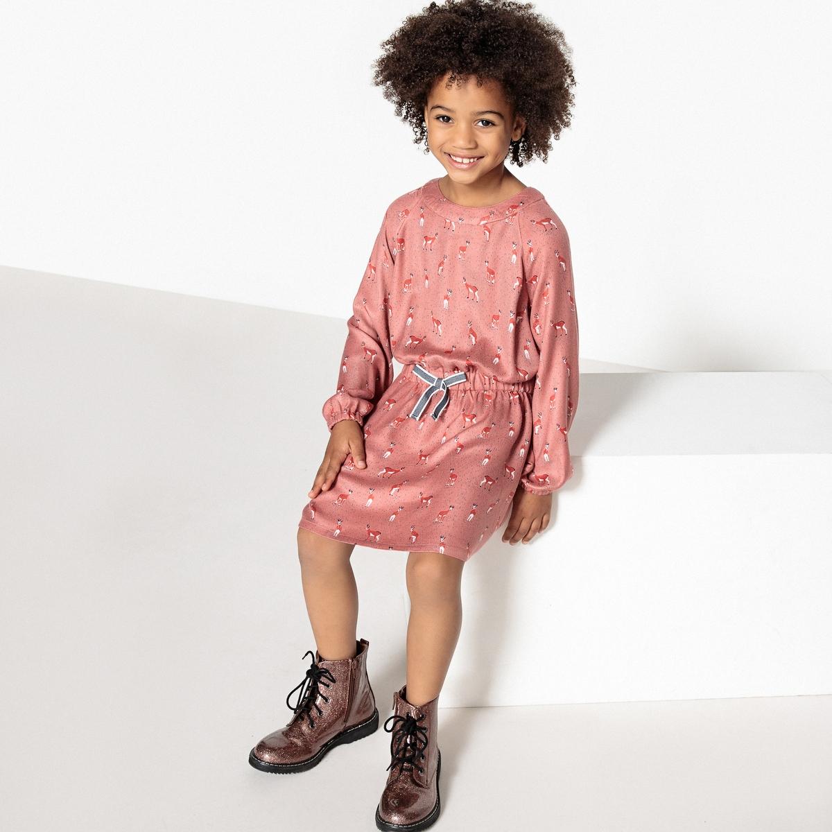 Платье с принтом 3-12лет