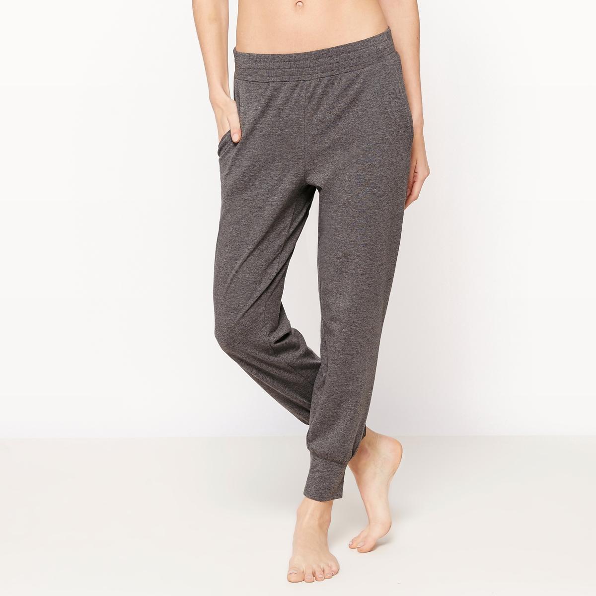 Pantaloni a pinocchietto in coton/modal