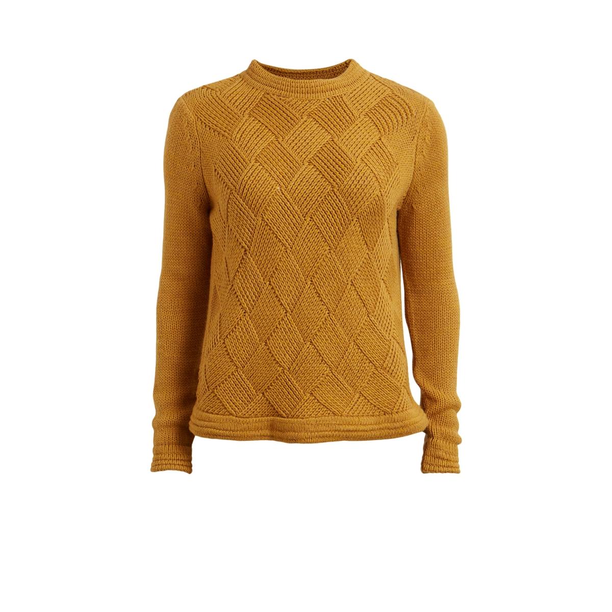 Пуловер, вязка сетка, VIWAVES TOPСостав и описание:Марка: VILA.Модель: VIWAVES TOP.Материал: 62% акрила, 28% хлопка, 10% шерсти.Уход:- Ручная стирка.<br><br>Цвет: горчичный<br>Размер: XS